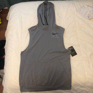 Nike grey sleeveless hoodie